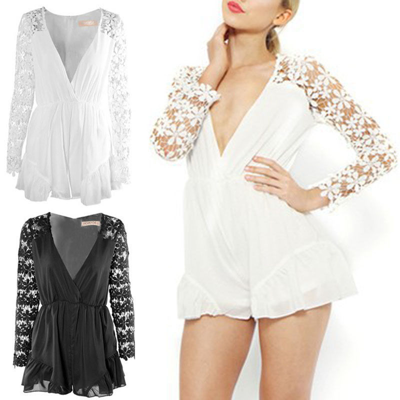 Sexy Women Celeb Lace Playsuit Party Evening Summer Ladies Dress Jumpsuit Shorts | eBay