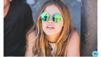 sunglasses indie cool reflective round mirrored sunglasses round sunglasses hipster summer holographic colorful green blue sun girl blond brunette hair life live laugh peace reflection reflect circle round glasses hippie glasses round frame glasses