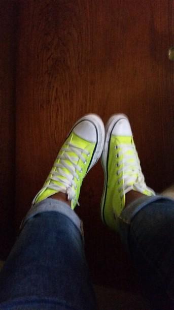 shoes limegreenshoes chuck taylor all stars