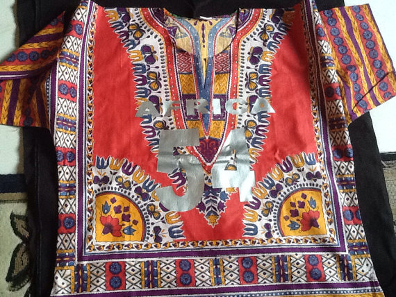 Dashiki print shirt AFRICA 54 by FabianandMom on Etsy