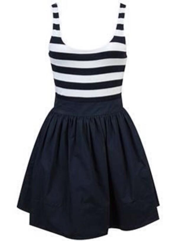 blue blue and white dress stripes