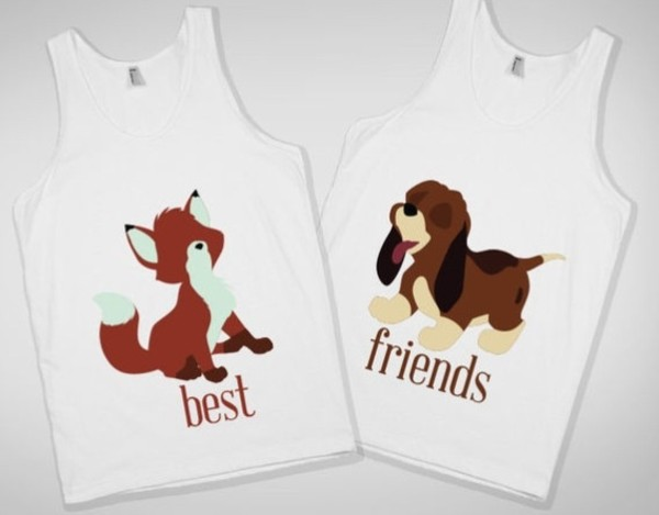 shirt fox hound fox and the hound the fox and the hound bff best friend shirts