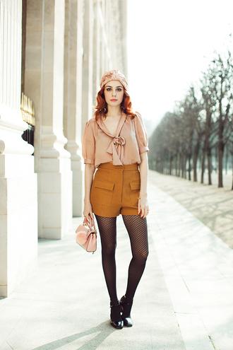 miss pandora blogger top tights shoes shorts sunglasses bag jacket