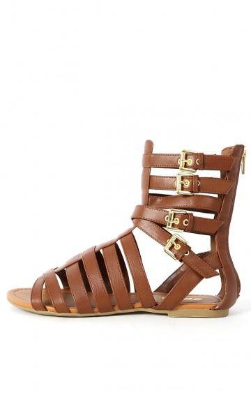 Soda Callen-s Strappy Gladiator Sandals | MakeMeChic.com