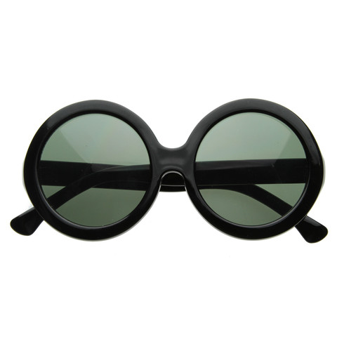Celebrity Oversize Vintage Jackie O Kennedy Round Designer Sunglasses                             zeroUV