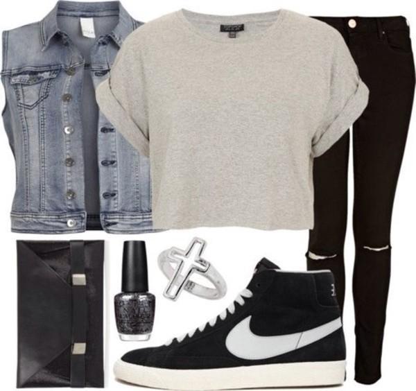 t-shirt blouse pants shoes