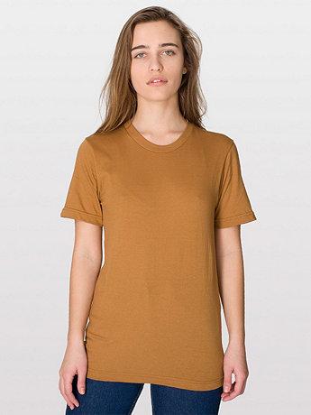Unisex Fine Jersey Short Sleeve T-Shirt | American Apparel