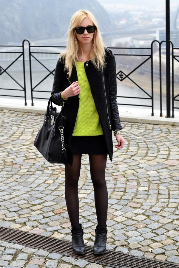 vogue haus sweater coat skirt shoes bag jewels sunglasses