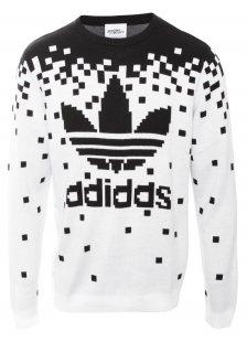 Pixel Knit Sweatshirt Black | Jeremy Scott for Adidas