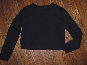 Super Soft Sparkle and Fade Black Cropped Sweater Fuzzy Soft XS Urban Outfitters | eBay