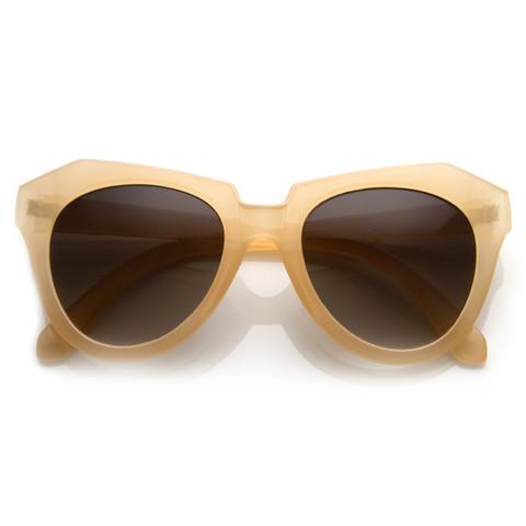 Womens Oversize Fashion Geometric Opaque Sunglasses 8701                           | zeroUV