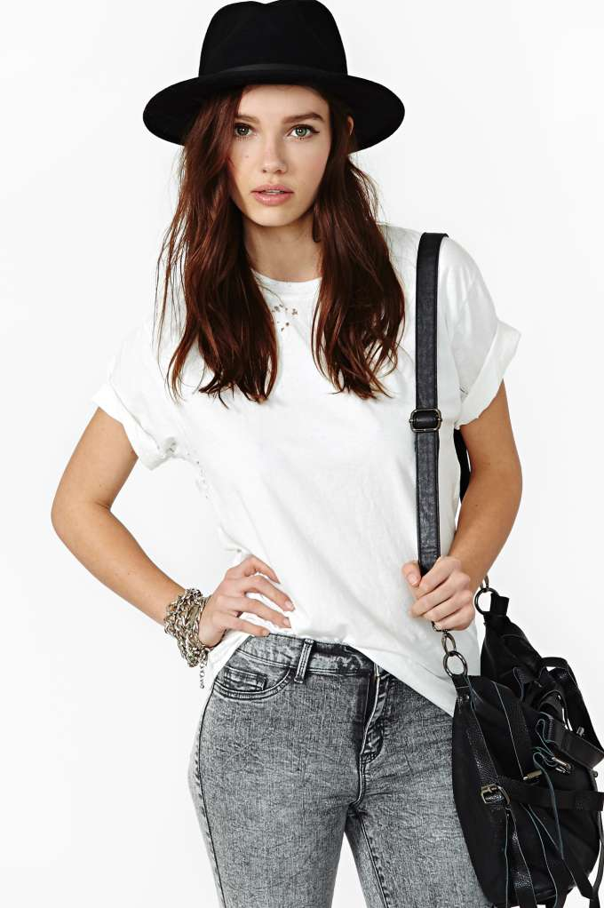 After Party Vintage Essential Tee in  Clothes Tops Tees at Nasty Gal