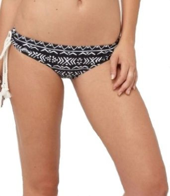 Amazon.com: Roxy Women's Abstract Tribal Retro Boy Brief Bikini Bottoms-Black/White-Large: Clothing