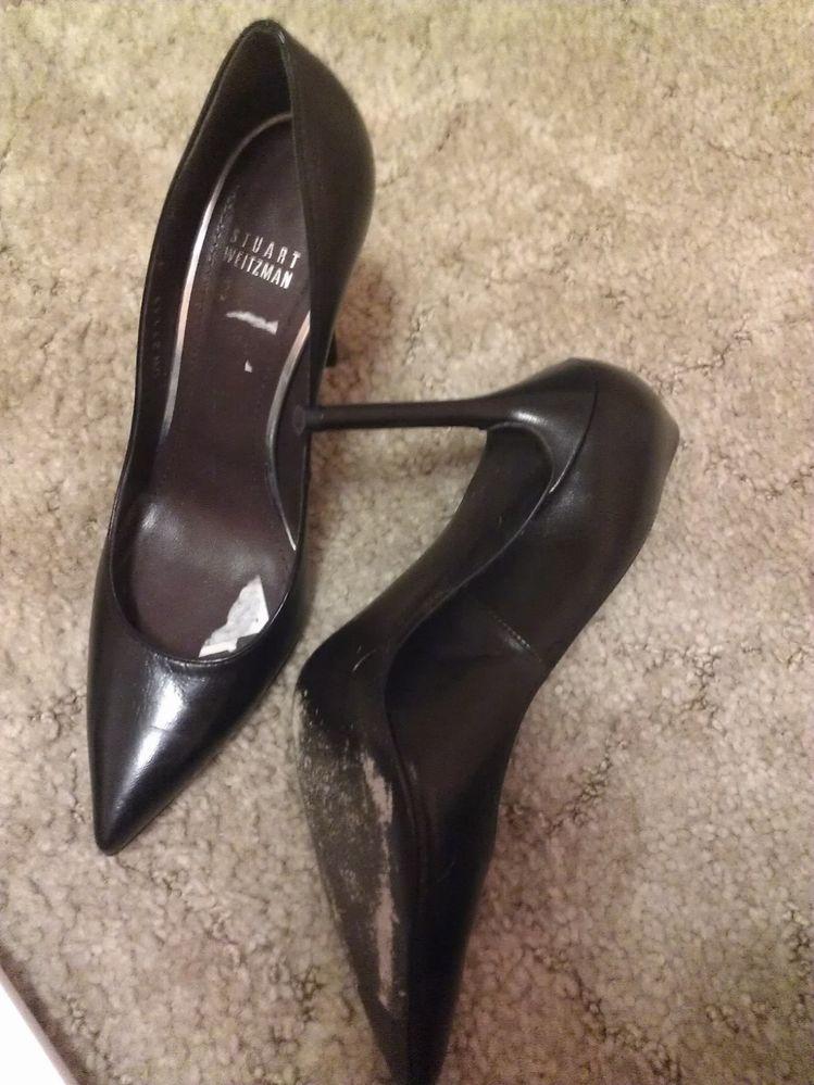 $360 in Stores Now Stuart Weitzman Nouveau Leather Point Toe Pump Size 7 | eBay