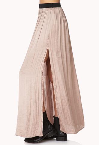Enchanted M-Slit Maxi Skirt | FOREVER21 - 2000090946