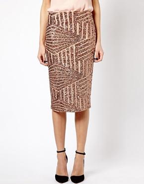 River Island | River Island Sequin Pencil Skirt at ASOS