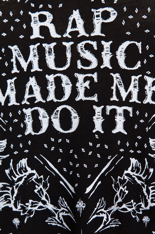 Style Stalker Rap Music Made Me Do It Tee in Black | REVOLVE