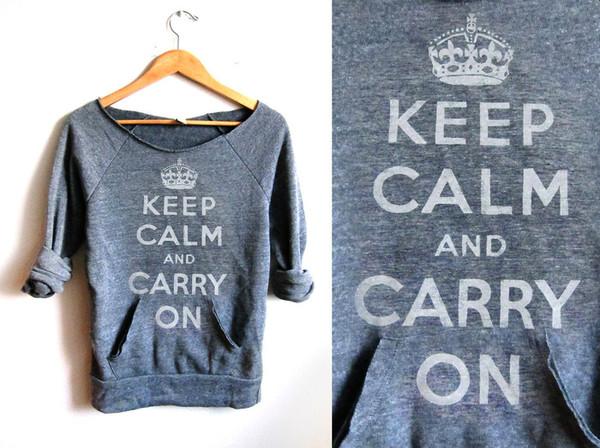 shirt keep calm middle sleeve comfy
