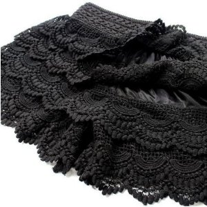 Amazon.com: T&LOL 1PC WHITE BLACK Women ladies girls teens women's Sexy elegent Lace Crochet Knit Skirt Tiered Shorts Pants Vintage Hot on sale (BLACK): Beauty