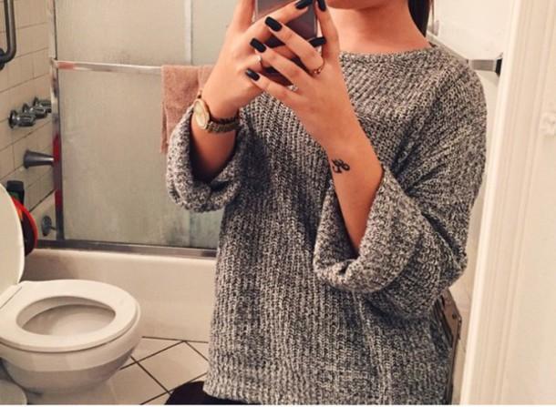 sweater grey sweater cute sweater comfy sweater simple sweater knitted sweater sweater shirt shirt gray shirt
