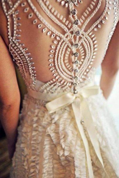 dress wedding dress white dress lace dress see threw style