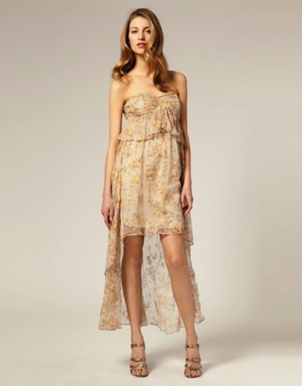 Asos asos petite robe fleurie courte devant et longue for Robe fleurie asos