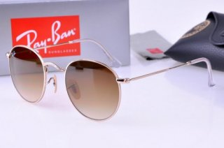 Ray Ban RB3447 Round Metal 112/32 50mm/21 3N Frame Matte Gold Le [RB/0818] - $27.50 :