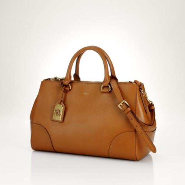 bag ralph lauren bag ralph lauren satchel bag camel camel bag leather bag bagsq handbags bag satchel