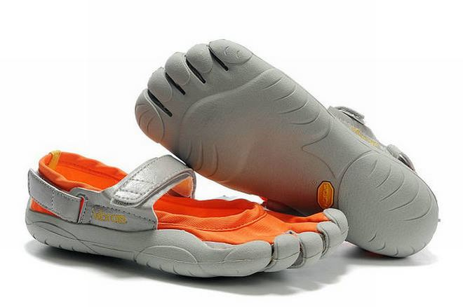 5 fingers sprint grey and orange barefoot sneakers online