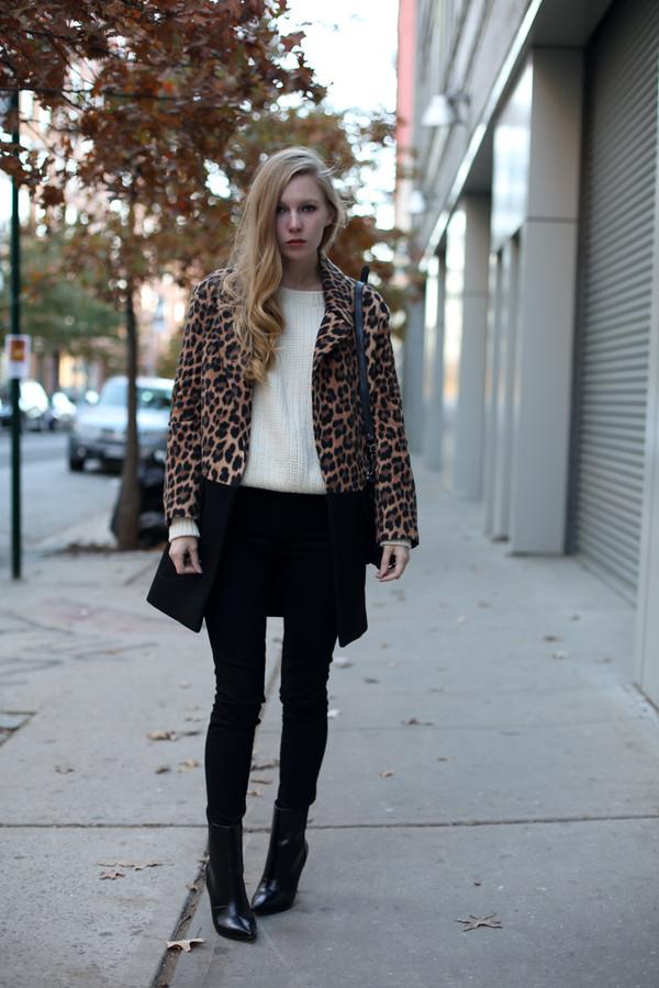 coat sweater jeans bag shoes