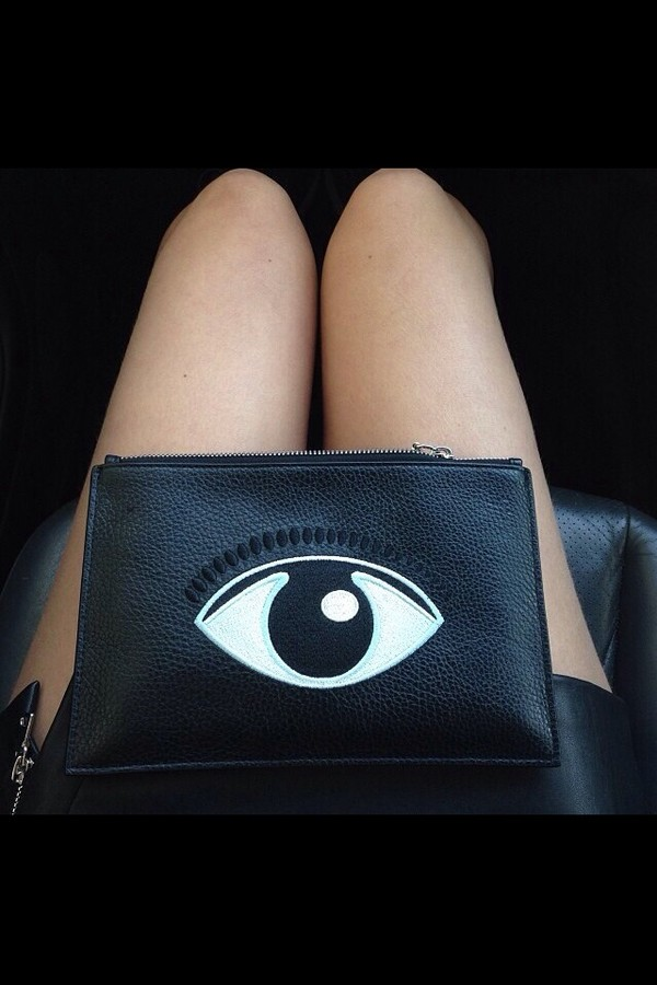 bag bag with eye print eye black bag