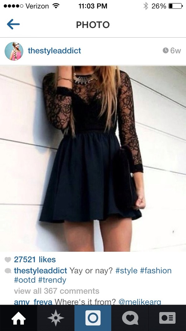 dress black lace dress