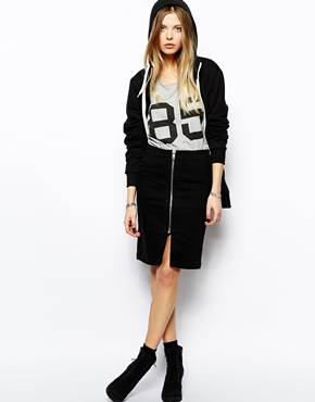 Noisy May | Noisy May Zip Front Skirt at ASOS