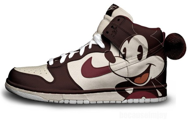 Well-liked shoes, nike, vintage, mickey mouse, mouse, dunks, mickey mouse  FK83