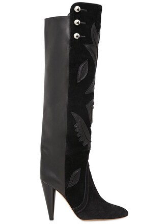 boots leather boots leather suede black shoes