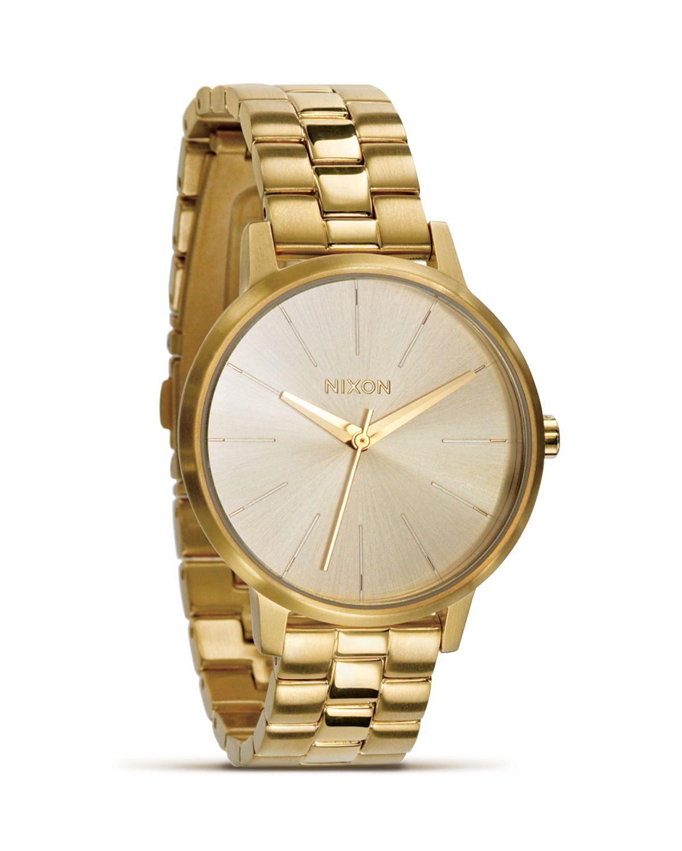 Nixon The Kensington Gold Bracelet Watch, 36.5mm | Bloomingdale's