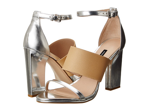French Connection Ina Silver/Nude/Silver - Zappos.com Free Shipping BOTH Ways