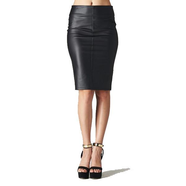 Venta Leather Skirt   Vanity Row