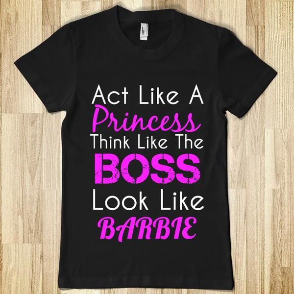 t-shirt barbie boss princess shirt t-shirt