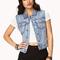 Cool girl studded denim vest | forever21 - 2026525832