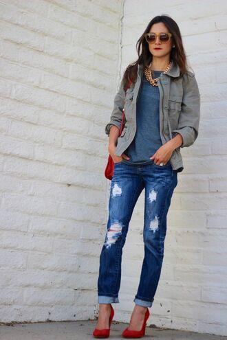 frankie hearts fashion jeans jacket t-shirt shoes bag sunglasses