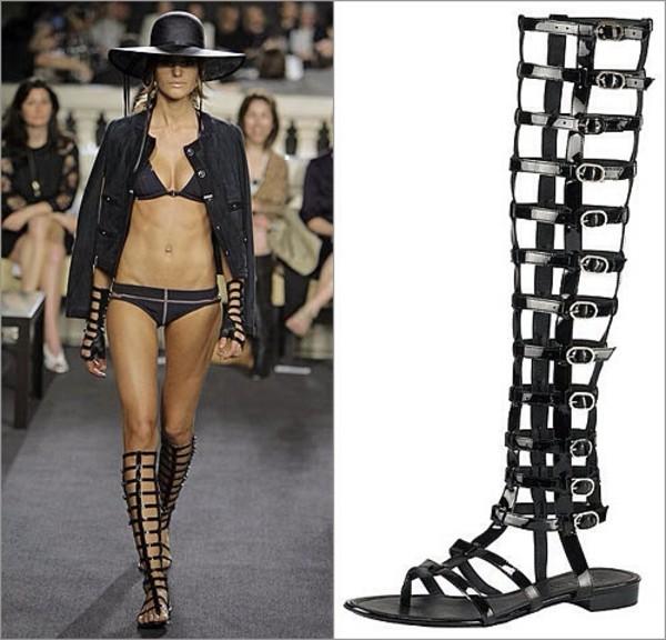 shoes black brown gladiators buckles