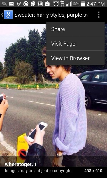 sweater purple sweater harry styles sweater