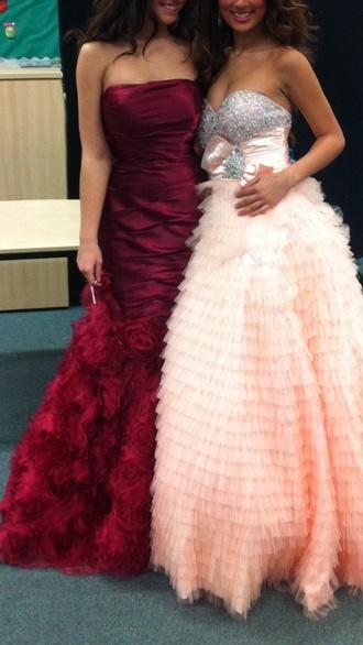 dress prom dress red dress long prom dress fishtail mermaid prom dresses