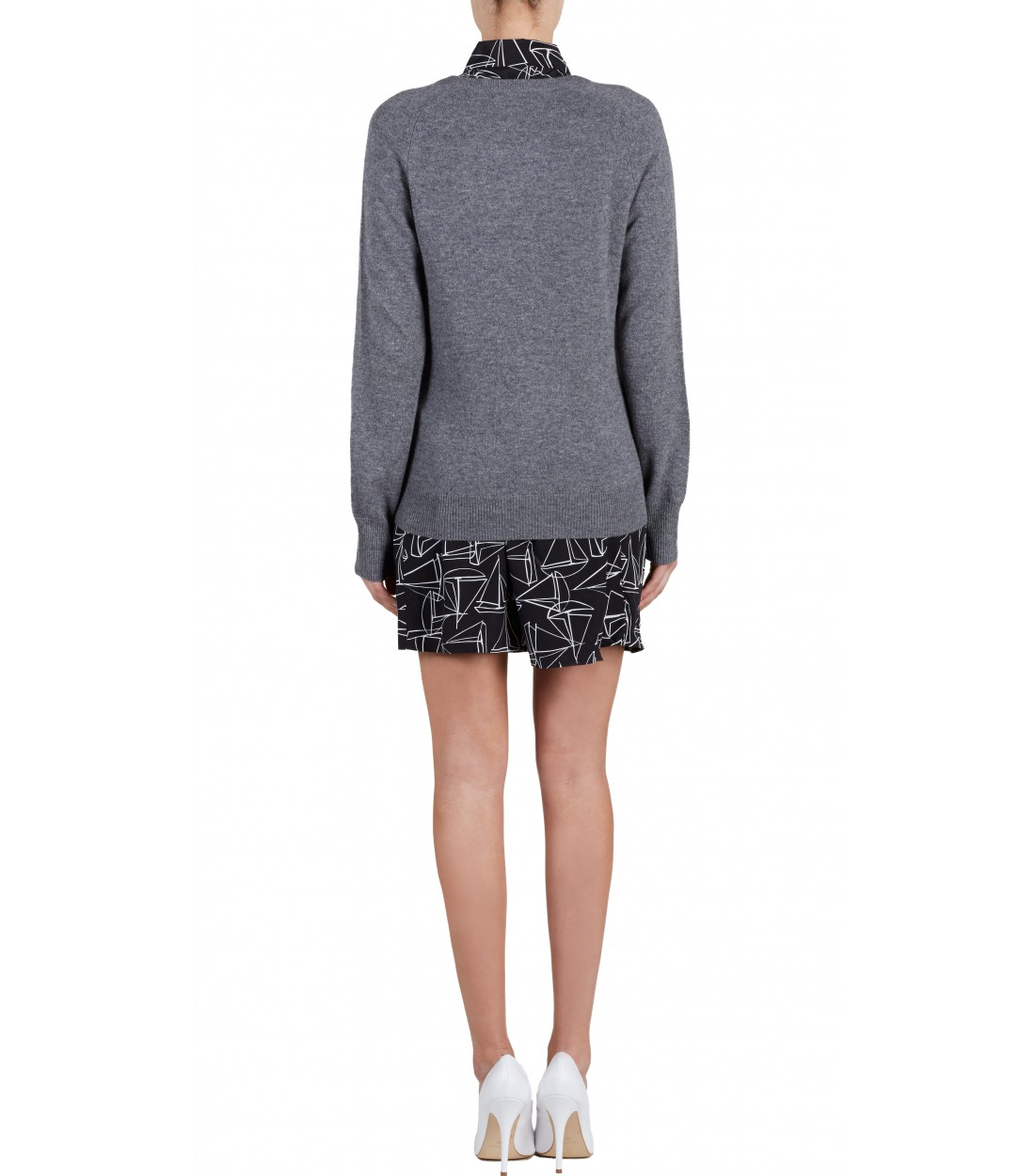 EQUIPMENT Sloane Crewneck Heather Grey | Women's Cashmere Sweater
