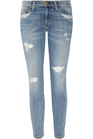 Current/Elliott | The Stiletto distressed skinny jeans | NET-A-PORTER.COM