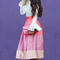 Color block midi skirt and bell sleeves | stylish petite