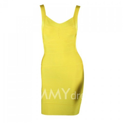 Sleeveless Zipper Polyester V-Neck Sexy Style Open Back Bandage Dress ... | Keep.com