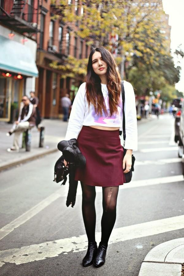 color me nana sweater skirt shoes