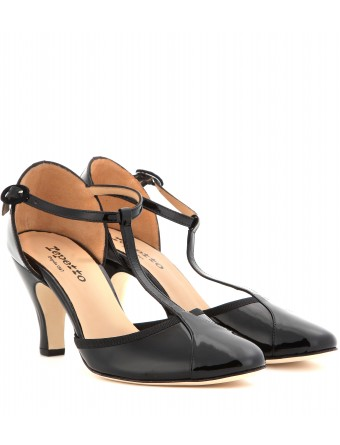 mytheresa.com -  Baya patent leather T-bar pumps - Mid heel - Pumps - Shoes - Luxury Fashion for Women / Designer clothing, shoes, bags